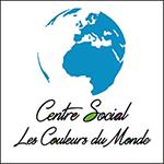 LOGO CENTRE SOCIAL, LES COULEURS DU MONDE.